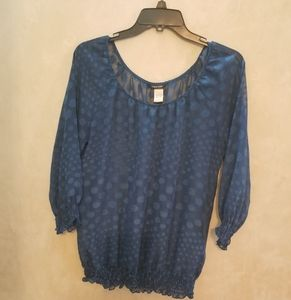 Maurices Sheer Women's Blouse Blue